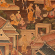 Masterpiece of traditional Thai style painting art  — Stock Photo #31186619