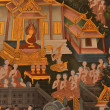 Masterpiece of traditional Thai style painting art old about Buddha — Stock Photo
