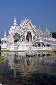 White temple.  Rong Khun temple, Chiang Rai — Stock Photo