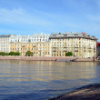Neva river embankment in St. Petersburg, Russia — Stock Photo #47993253