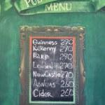 Постер, плакат: Pub menu