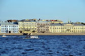 Neva river embankment  in St. Petersburg — Foto Stock