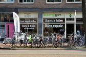 Bike shop in Amsterdam — Stock Photo