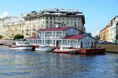 Neva river embankment, St. Petersburg — Foto Stock