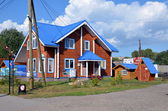 New wooden house for sale — Stockfoto