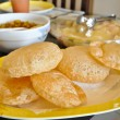 Homemade Bhature - Indian food — Stock Photo
