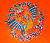 Swan painting at Ramtek Monastery in Gungtok — Stock Photo