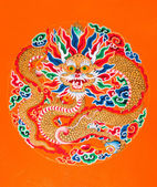 Dragon painting at Ramtek Monastery in Gungtok — Stock Photo