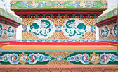 Kylin malba na základně pagody na phelri ňingmapa monastr — Stock fotografie
