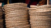 Webbed basket made from Bamboo — Stock Photo