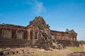 Verlangde steen op wat phu si op jam pa sak, laos — Stockfoto