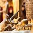 Money and elephant gave honeycomb to Buddha for worship — Stock Photo