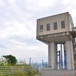 Dam gates along the road between Isahaya to Obama, Japan — Stock Photo