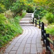 Walkway in at Unzen mountain at Obama, Japan — Stock Photo