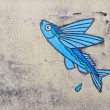 Stock Photo: Fish-Painted on concrete at Obama, Japan