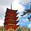 Five-Storied Pagoda at Miyajima, Hiroshima, Japan — Stock Photo