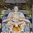 Gardian in front of Shrine door at Nikko, Japan — Stock Photo