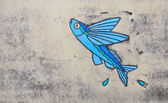 Fish-Painted on the concrete at Obama, Japan — Stock Photo
