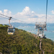 Cable car on the mountain — Stock Photo