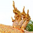 Fountain naga in Thai style at Wat Phra Thad Cheng Chum — 图库照片