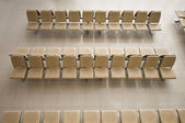 The metal chairs cover with upholstergy — Stock Photo