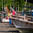 Stock Photo: Long-tail boat park during ebb tide