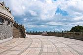The terrace of Po Lin Monestery — Stock Photo