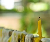 Una vela sin iluminar durante el día — Foto de Stock