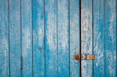 The blue background made from wood — Stock Photo