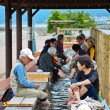 Stock Photo: Foot-Unzen near beach at Obama, Japan