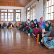 Old people pray and meditate — Stok fotoğraf