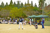 Baseball competition between member of hospital in Isahaya, Japa — Stock Photo