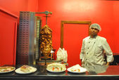 Kebub cook in Indian resturant — Stock Photo
