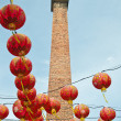 The chinese lamps with chimney — Stock Photo