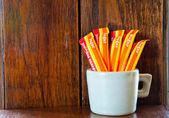 Die Päckchen Zucker — Stockfoto