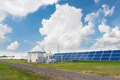 The solar farm for green energy in Thailand — Stock Photo