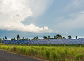 The solar farm for green energy in Thailand — Stock Photo