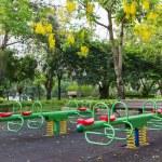 The colorful plaything in Benjasiri Park, Bangkok — Stock Photo #50581901