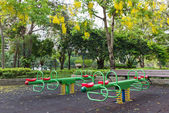 The colorful plaything in Benjasiri Park, Bangkok — Stock Photo