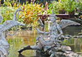 The Gandharvas in Thai style on the water — Stockfoto