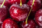 Cherry  with water drops. — Stock Photo