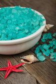 Eucalyptus spa salt — Stock Photo
