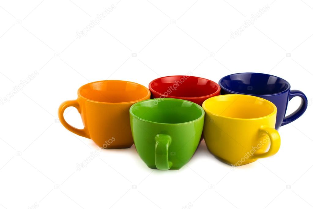 colorful mugs stock image - Colorful Mugs