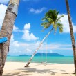 Coconut palms on the beach in Thailand — Stock Photo