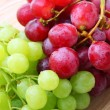 Background image of red and green grapes — Stock Photo