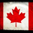 Grunge Canada flag — Stock Photo