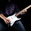 Image of guitar player — Stock Photo