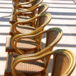Stock Photo: Image of wicker chairs in hotel on south