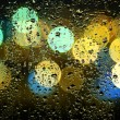 Picture of water drops on window — Stock Photo