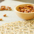 Image of bowl of almonds. Selective focus — Stock Photo